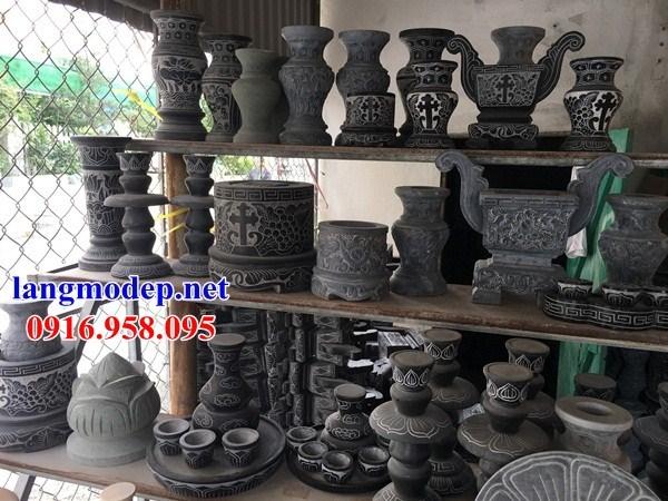 86 Mẫu bát hương bình bông nhà thờ họ đình đền chùa miếu khu lăng mộ bằng đá bán tại Tuyên Quang