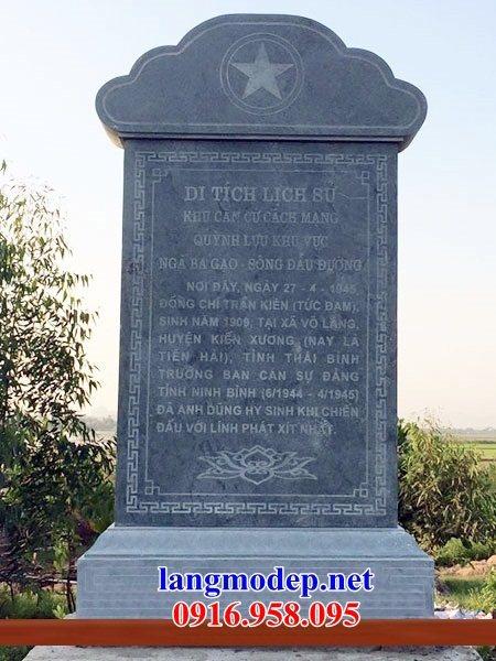 86 Mẫu bia ghi danh nhà thờ họ đình đền chùa miếu khu lăng mộ bằng đá đặt tại Tuyên Quang