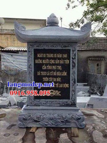 86 Mẫu bia ghi danh nhà thờ họ đình đền chùa miếu khu lăng mộ bằng đá xanh tại Tuyên Quang