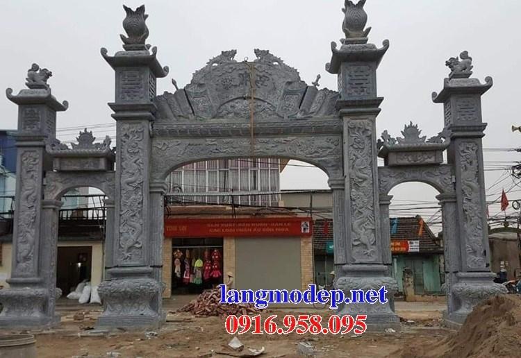 86 Mẫu cổng tam quan nhà thờ họ đình đền chùa miếu khu lăng mộ bằng đá Ninh Bình tại Tuyên Quang