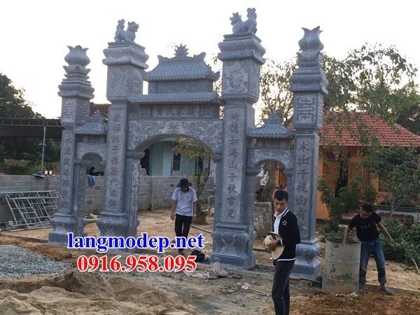 86 Mẫu cổng tam quan nhà thờ họ đình đền chùa miếu khu lăng mộ bằng đá Thanh Hóa tại Tuyên Quang