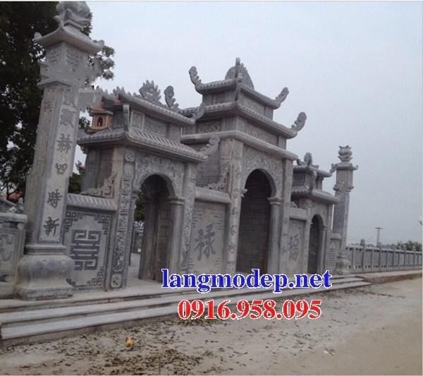 86 Mẫu cổng tam quan nhà thờ họ đình đền chùa miếu khu lăng mộ bằng đá thiết kế đẹp tại Tuyên Quang