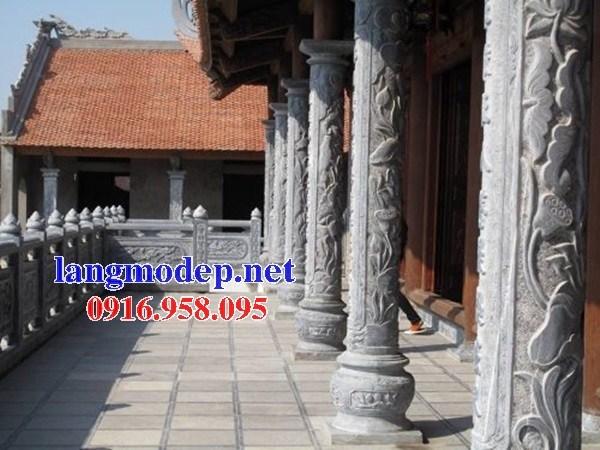 86 Mẫu cột đá cột đồng trụ nhà thờ họ đình đền chùa miếu khu lăng mộ bằng đá Ninh Bình tại Tuyên Quang