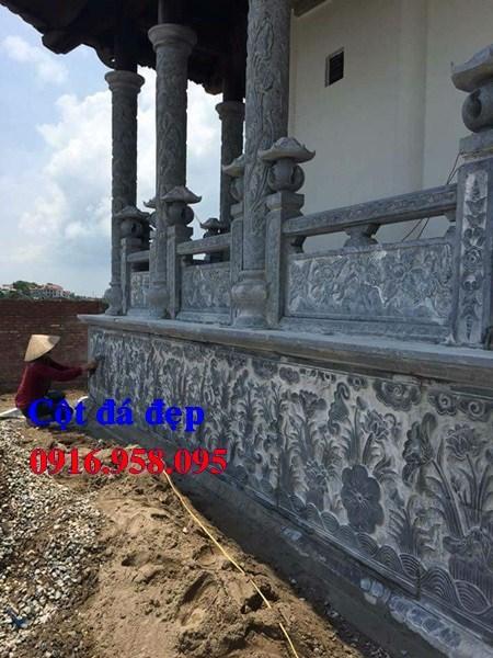 86 Mẫu cột đá cột đồng trụ nhà thờ họ đình đền chùa miếu khu lăng mộ bằng đá Thanh Hóa tại Tuyên Quang