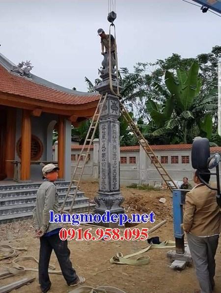 86 Mẫu cột đá cột đồng trụ nhà thờ họ đình đền chùa miếu khu lăng mộ bằng đá tại Tuyên Quang