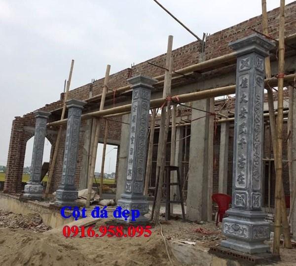 86 Mẫu cột đá cột đồng trụ nhà thờ họ đình đền chùa miếu khu lăng mộ bằng đá thi công lắp đặt tại Tuyên Quang