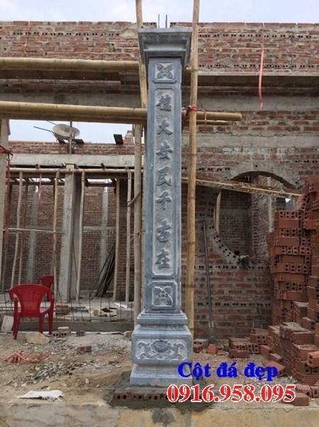 86 Mẫu cột đá cột đồng trụ nhà thờ họ đình đền chùa miếu khu lăng mộ bằng đá xanh tại Tuyên Quang