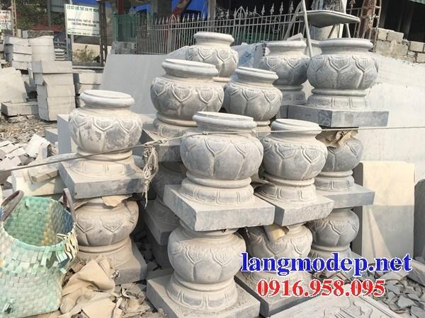 86 Mẫu chân cột chân tảng nhà thờ họ đình đền chùa miếu khu lăng mộ bằng đá bán tại Tuyên Quang