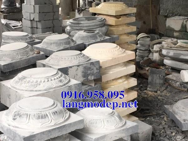 86 Mẫu chân cột chân tảng nhà thờ họ đình đền chùa miếu khu lăng mộ bằng đá tại Tuyên Quang