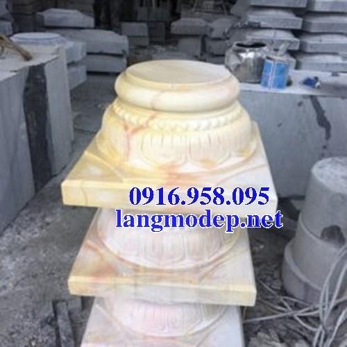 86 Mẫu chân cột chân tảng nhà thờ họ đình đền chùa miếu khu lăng mộ bằng đá vàng tại Tuyên Quang