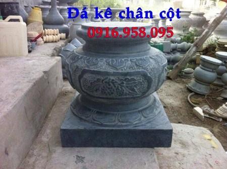 86 Mẫu chân cột chân tảng nhà thờ họ đình đền chùa miếu khu lăng mộ bằng đá xanh tại Tuyên Quang
