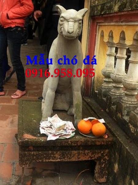 86 Mẫu chó phong thủy nhà thờ họ đình đền chùa miếu khu lăng mộ bằng đá thờ cúng tại Tuyên Quang