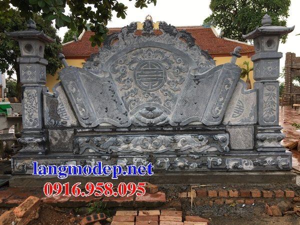 86 Mẫu cuốn thư bức bình phong nhà thờ họ đình đền chùa miếu khu lăng mộ bằng đá Ninh Bình tại Tuyên Quang