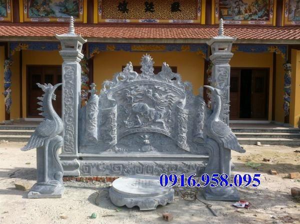 86 Mẫu cuốn thư bức bình phong nhà thờ họ đình đền chùa miếu khu lăng mộ bằng đá Thanh Hóa tại Tuyên Quang