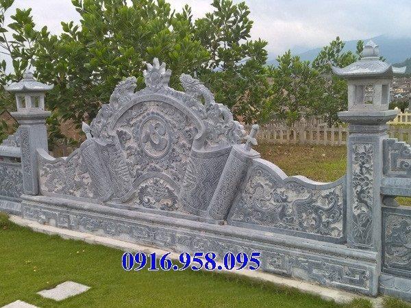 86 Mẫu cuốn thư bức bình phong nhà thờ họ đình đền chùa miếu khu lăng mộ bằng đá thiết kế đẹp tại Tuyên Quang