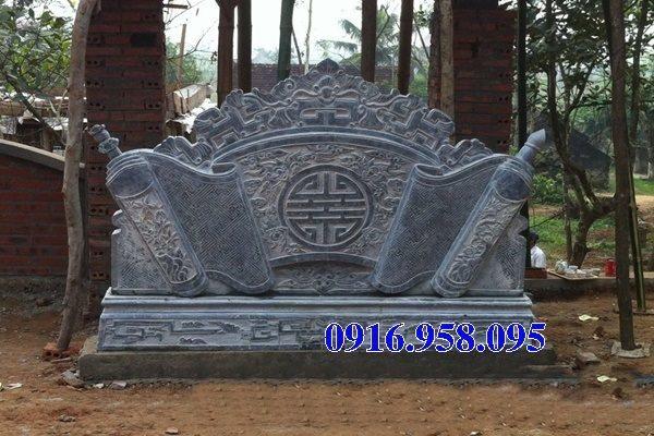 86 Mẫu cuốn thư bức bình phong nhà thờ họ đình đền chùa miếu khu lăng mộ bằng đá xanh tại Tuyên Quang