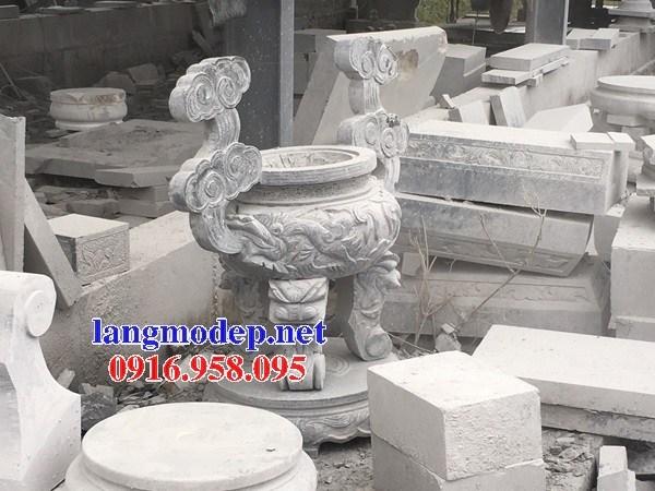 86 Mẫu lư hương đỉnh đèn nhà thờ họ đình đền chùa miếu khu lăng mộ bằng đá bán tại Tuyên Quang