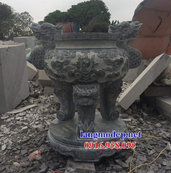 86 Mẫu lư hương đỉnh đèn nhà thờ họ đình đền chùa miếu khu lăng mộ bằng đá thiết kế đẹp tại Tuyên Quang