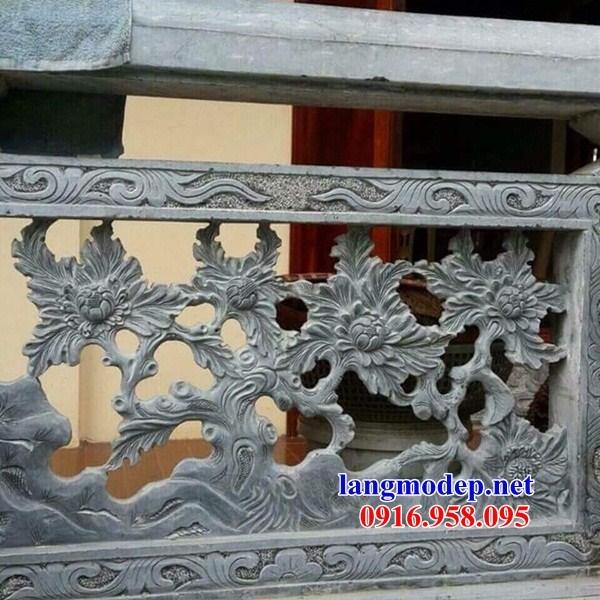 86 Mẫu lan can tường rào nhà thờ họ đình đền chùa miếu khu lăng mộ bằng đá đẹp tại Tuyên Quang