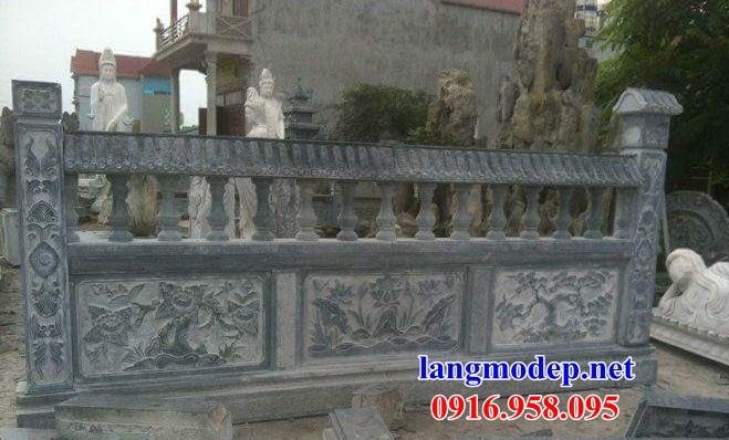 86 Mẫu lan can tường rào nhà thờ họ đình đền chùa miếu khu lăng mộ bằng đá chạm trổ tứ quý tại Tuyên Quang