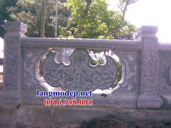 86 Mẫu lan can tường rào nhà thờ họ đình đền chùa miếu khu lăng mộ bằng đá tại Tuyên Quang