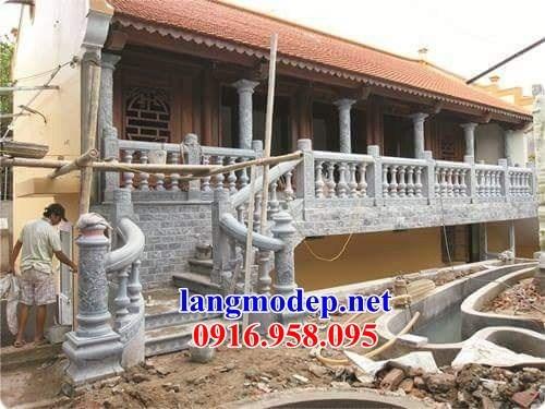 86 Mẫu lan can tường rào nhà thờ họ đình đền chùa miếu khu lăng mộ bằng đá thi công lắp đặt tại Tuyên Quang