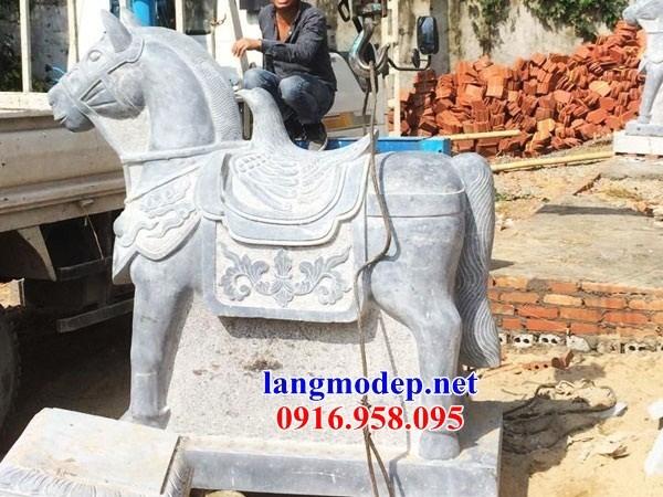 86 Mẫu ngựa phong thủy nhà thờ họ đình đền chùa miếu khu lăng mộ bằng đá Ninh Bình tại Tuyên Quang