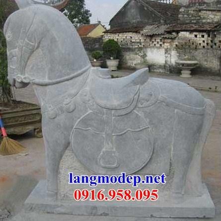 86 Mẫu ngựa phong thủy nhà thờ họ đình đền chùa miếu khu lăng mộ bằng đá Thanh Hóa tại Tuyên Quang
