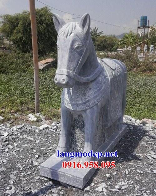 86 Mẫu ngựa phong thủy nhà thờ họ đình đền chùa miếu khu lăng mộ bằng đá tại Tuyên Quang
