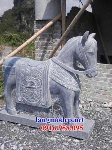 86 Mẫu ngựa phong thủy nhà thờ họ đình đền chùa miếu khu lăng mộ bằng đá xanh tại Tuyên Quang