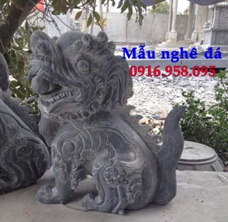 86 Mẫu nghê phong thủy nhà thờ họ đình đền chùa miếu khu lăng mộ bằng đá thiết kế cơ bản tại Tuyên Quang