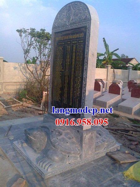 86 Mẫu rùa cõng bia ghi danh nhà thờ họ đình đền chùa miếu khu lăng mộ bằng đá Ninh Bình tại Tuyên Quang