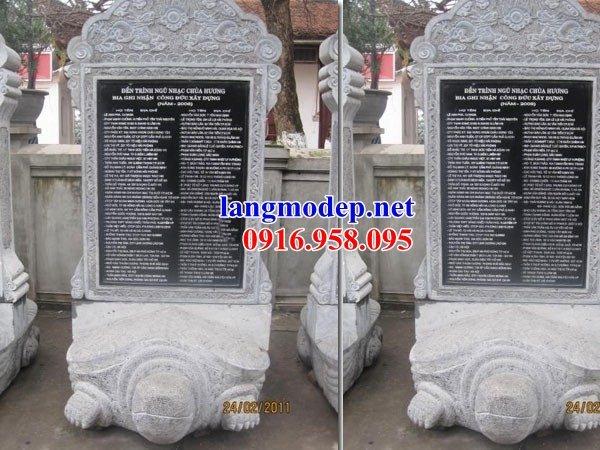 86 Mẫu rùa cõng bia ghi danh nhà thờ họ đình đền chùa miếu khu lăng mộ bằng đá tự nhiên cao cấp tại Tuyên Quang