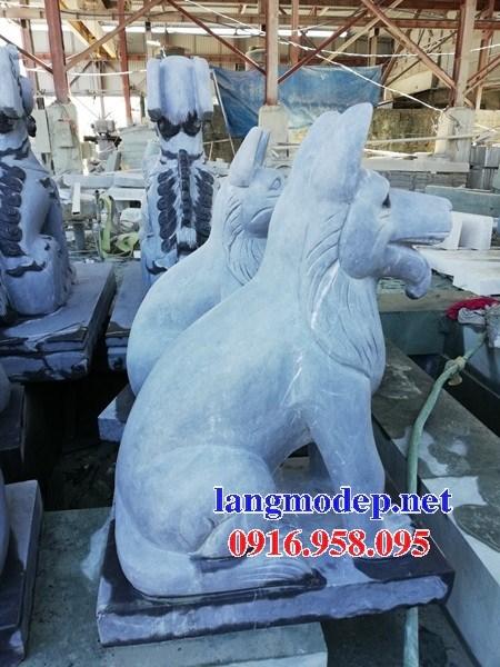 86 Mẫu tượng chó phong thủy nhà thờ họ đình đền chùa miếu khu lăng mộ bằng đá tại Tuyên Quang