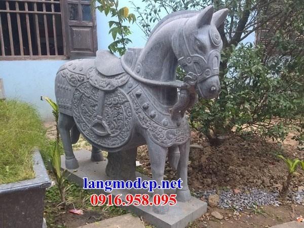 86 Mẫu tượng ngựa phong thủy nhà thờ họ đình đền chùa miếu khu lăng mộ bằng đá tại Tuyên Quang
