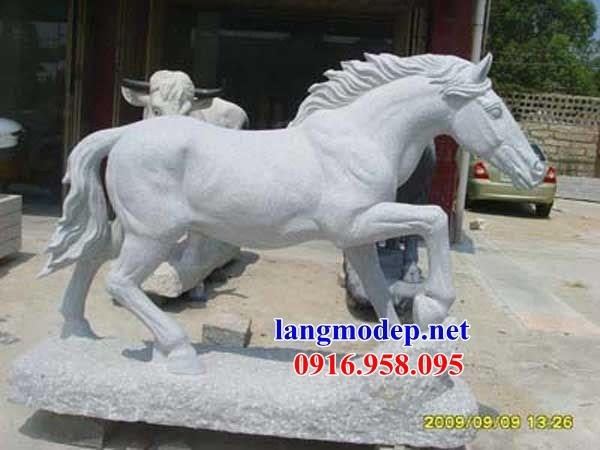 86 Mẫu tượng ngựa phong thủy nhà thờ họ đình đền chùa miếu khu lăng mộ bằng đá thiết kế hiện đại tại Tuyên Quang