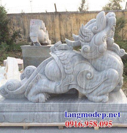 86 Mẫu tượng tỳ hưu phong thủy nhà thờ họ đình đền chùa miếu khu lăng mộ bằng đá tại Tuyên Quan
