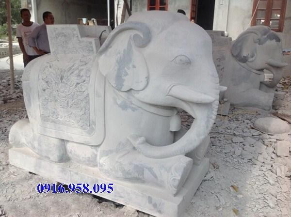 86 Mẫu tượng voi phong thủy nhà thờ họ đình đền chùa miếu bằng đá tại Tuyên Quang