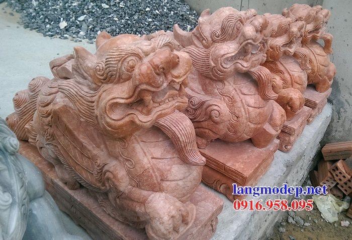 86 Mẫu tỳ hưu phong thủy nhà thờ họ đình đền chùa miếu khu lăng mộ bằng đá đỏ tại Tuyên Quan