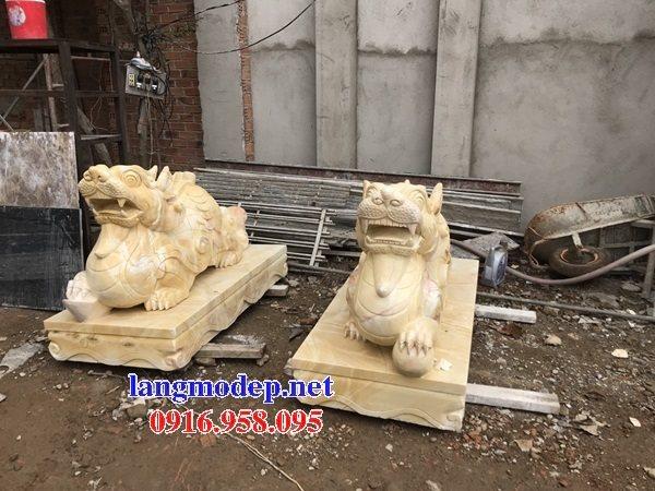 86 Mẫu tỳ hưu phong thủy nhà thờ họ đình đền chùa miếu khu lăng mộ bằng đá vàng tại Tuyên Quang