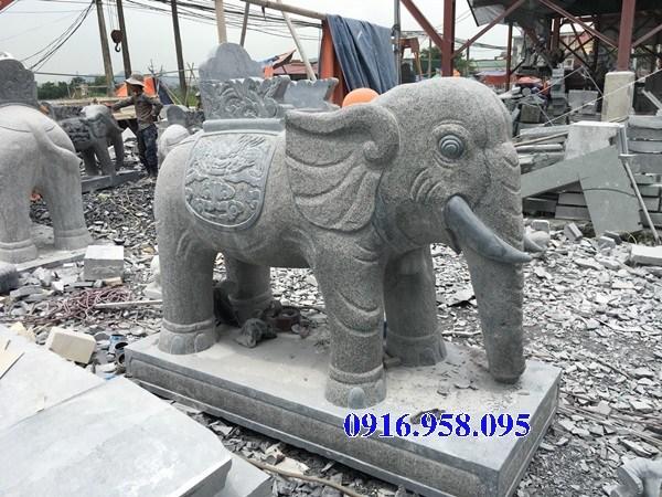 86 Mẫu voi phong thủy nhà thờ họ đình đền chùa miếu khu lăng mộ bằng đá tự nhiên tại Tuyên Quang