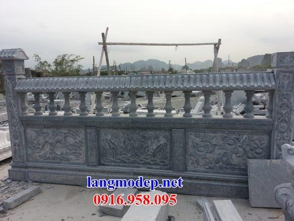 88 Mẫu Địa chỉ bán báo giá lan can tường rào nhà thờ họ đình đền chùa miếu khu lăng mộ bằng đá tại Thái Bình