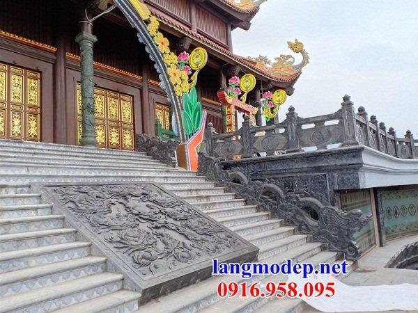 88 Mẫu đá lát nền ốp tường nhà thờ họ đình đền chùa miếu khu lăng mộ bằng đá thi công lắp đặt tại Thái Bình