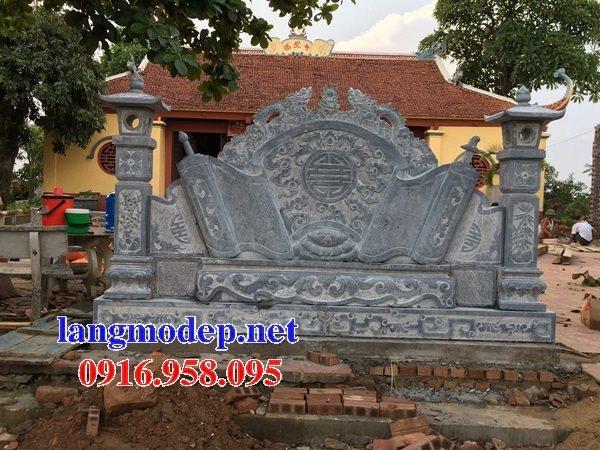 88 Mẫu Hình ảnh cuốn thư bức bình phong nhà thờ họ đình đền chùa miếu khu lăng mộ bằng đá tại Thái Bình