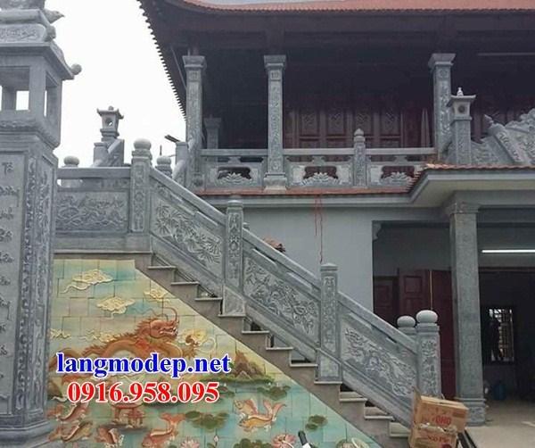 88 Mẫu Hình ảnh lan can tường rào nhà thờ họ đình đền chùa miếu khu lăng mộ bằng đá tại Thái Bình