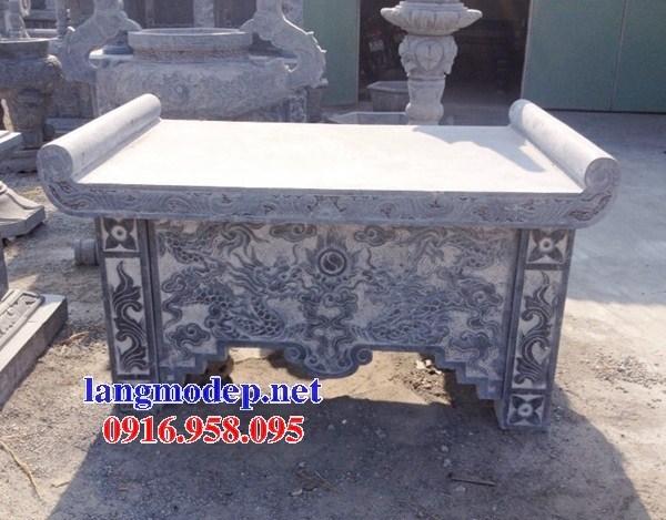 88 Mẫu bàn lễ nhà thờ họ đình đền chùa miếu khu lăng mộ bằng đá bán tại Thái Bình