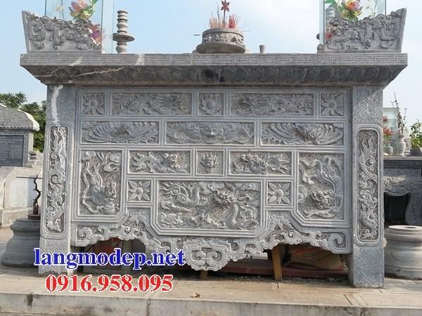 88 Mẫu bàn lễ nhà thờ họ đình đền chùa miếu khu lăng mộ bằng đá chạm khắc tinh xảo tại Thái Bình