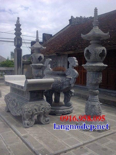 88 Mẫu bàn lễ nhà thờ họ đình đền chùa miếu khu lăng mộ bằng đá thiết kế đẹp tại Thái Bình