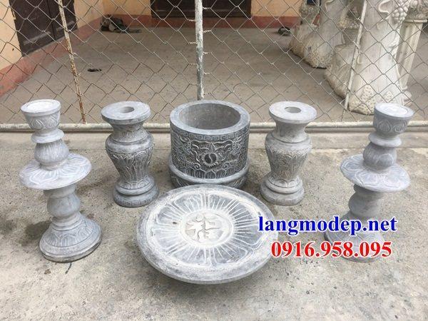 88 Mẫu bát hương bình bông nhà thờ họ đình đền chùa miếu khu lăng mộ bằng đá Ninh Bình tại Thái Bình