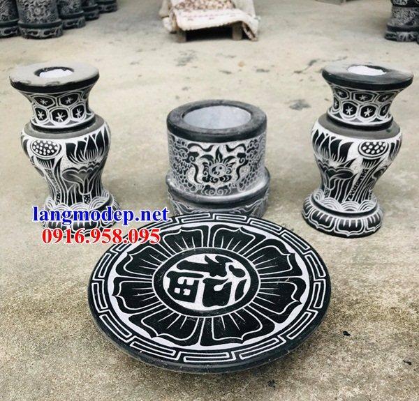88 Mẫu bát hương bình bông nhà thờ họ đình đền chùa miếu khu lăng mộ bằng đá bán tại Thái Bình